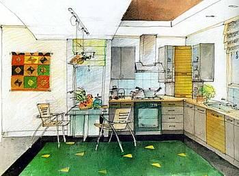 Sketsa Dapur Mungil