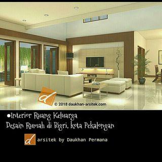 Gambar 3D Interior Ruang Keluarga