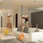 Sketsa 3D Interior Ruang Keluarga
