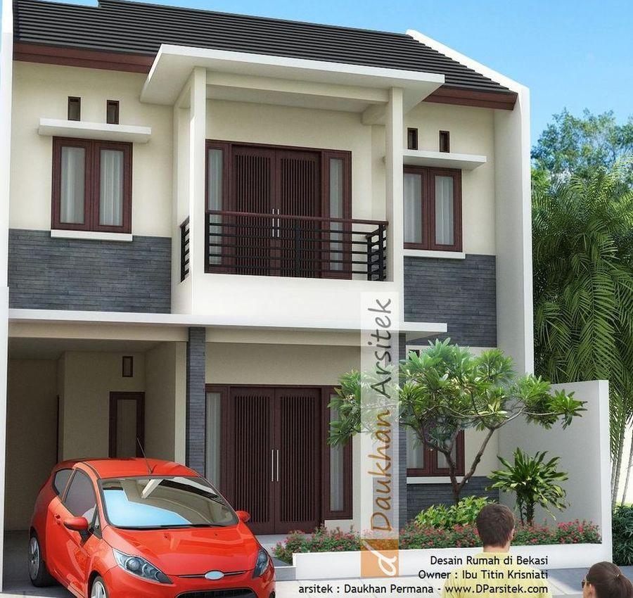 Gambar 3D Rumah Modern Minimalis 2 Lantai di Bekasi