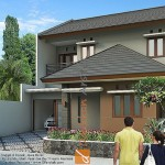 Gambar 3D Tampak Depan Rumah Minimalis di Depok di Depok Jawa Barat