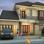 Gambar 3D Tampak Depan Rumah Minimalis di Tarakan Kalimantan Utara