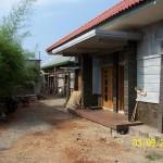 Pemasangan Batu Alam di Teras Samping Rumah