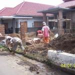 Pekerjaan Pembuatan SaluranDrainase di Depan Rumah. Tampak Depan [4] Renovasi Rumah Kuno Jaman Londo di Kertijayan Pekalongan