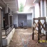 ON Progress : Area Patio di Dalam Rumah. Renovasi Rumah Kuno Jaman Londo di Kertijayan Pekalongan