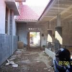 Area Patio di Dalam Rumah. Renovasi Rumah Kuno Jaman Londo di Kertijayan Pekalongan