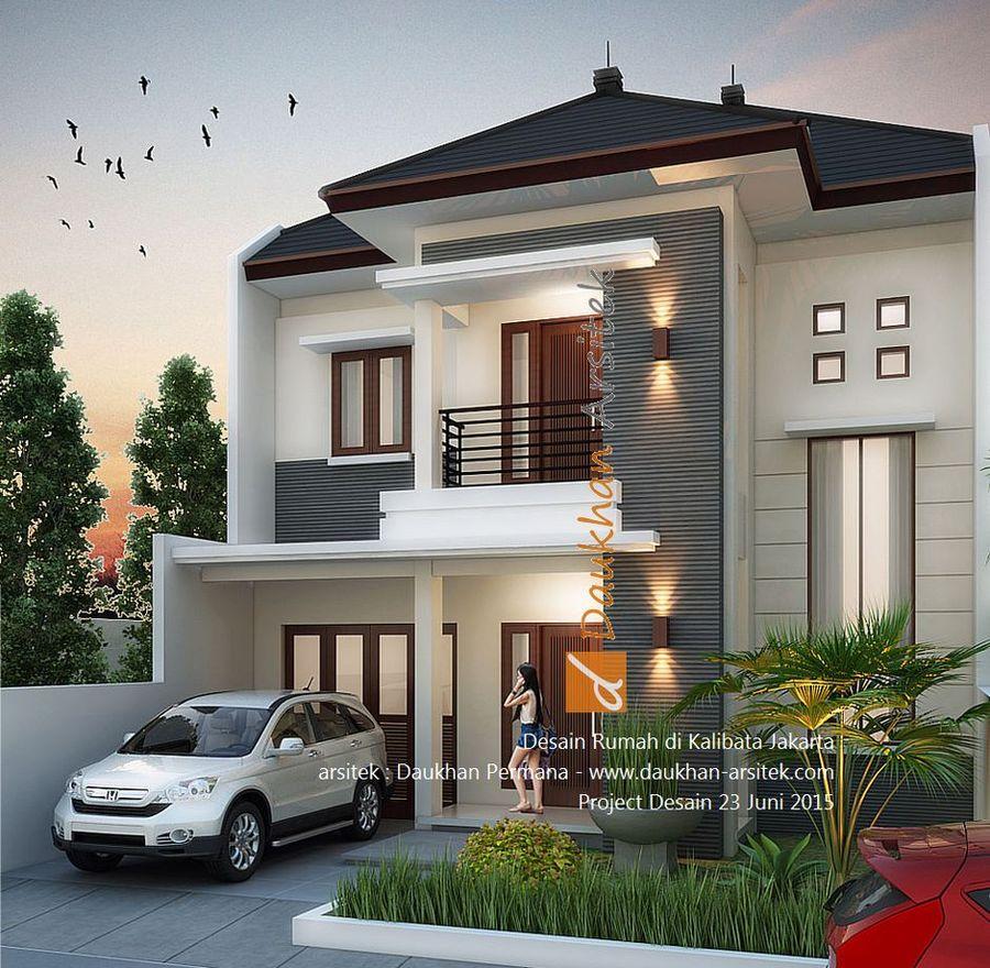 Gambar 3D Rumah Modern Minimalis 2 Lantai di Kalibata Jakarta