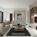 Gambar 3D Interior Ruang Keluarga Desain Rumah di Pesindon kota Pekalongan