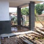 Teras Halaman Belakang Rumah. Renovasi Rumah Kuno Jaman Londo di Kertijayan Pekalongan