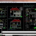Gambar AutoCAD Desain Rumah di Jakarta